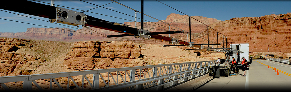 Location scouting for  Grand Canyon IMAX film project